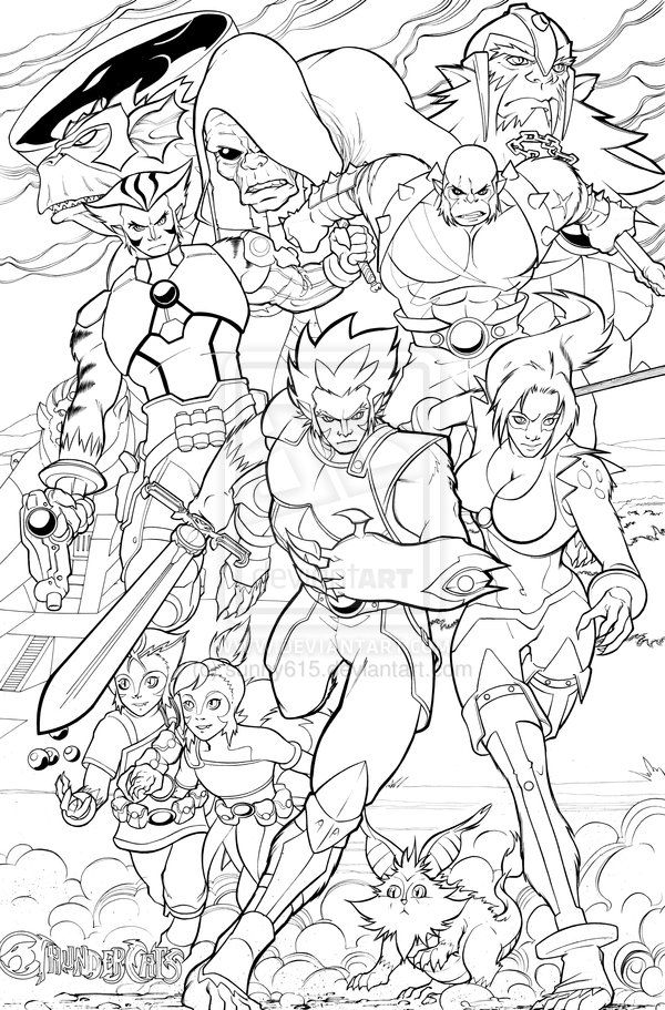 Thundercats Ho Inked By Sunny615 On Deviantart Thundercats Coloring Books Coloring Pages