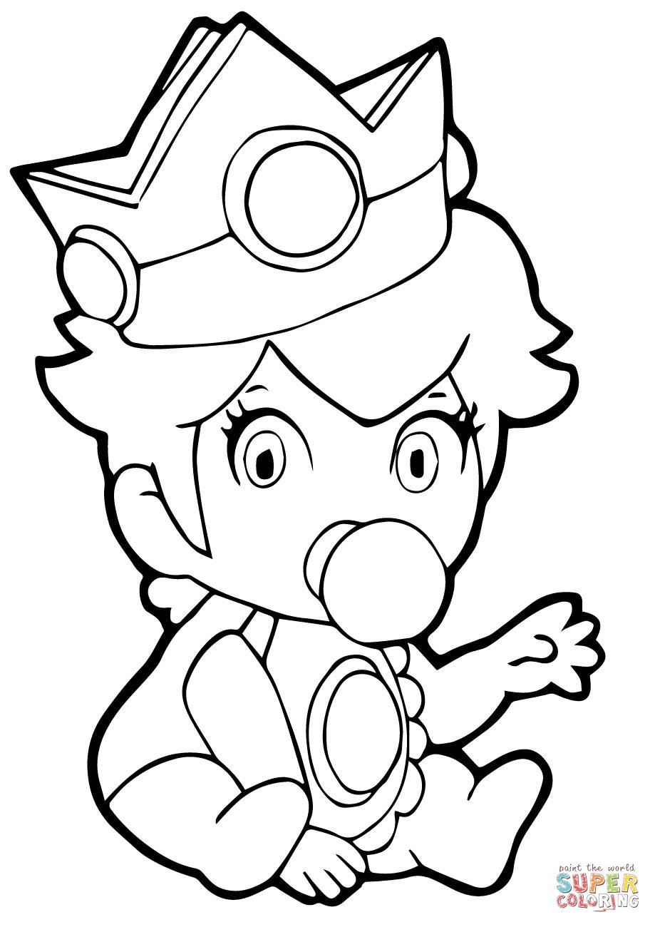 Baby Princess Peach Super Coloring Mario Coloring Pages Princess Coloring Pages Princess Coloring