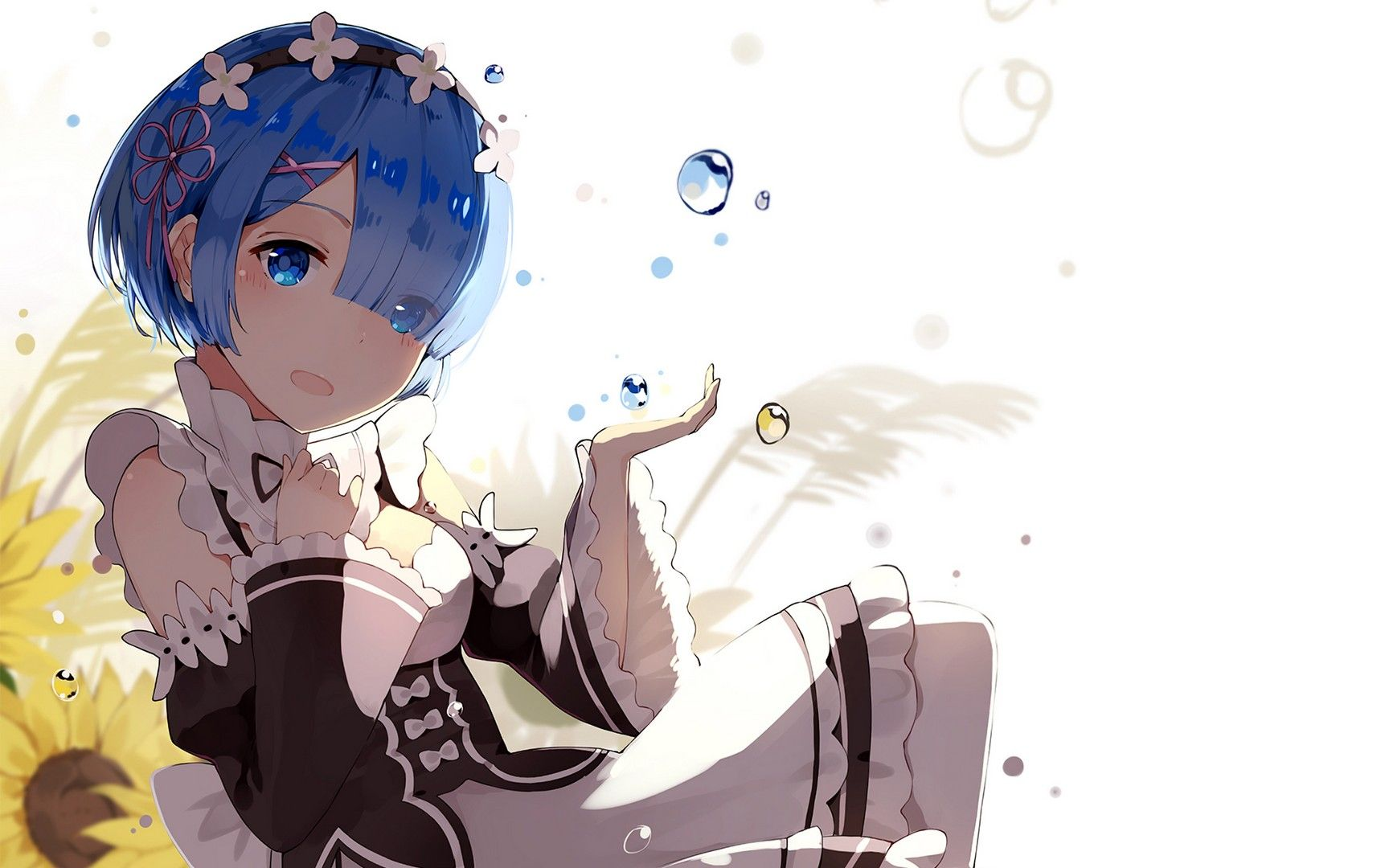 Rem Re Zero Wallpaper For Computer Anime Re Zero Wallpaper