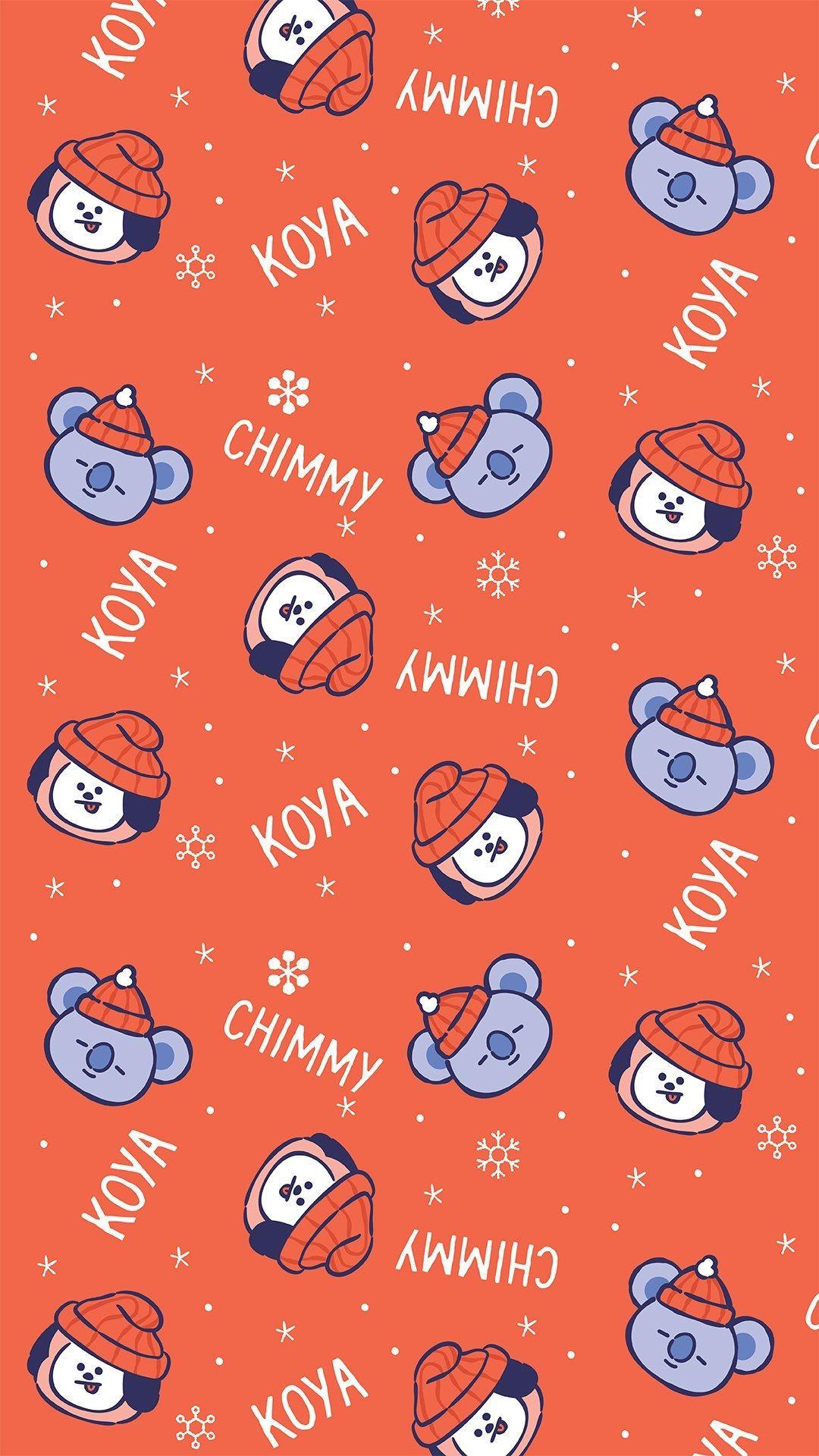 Bt21 Christmas Wallpaper Bt21 Koya Chimmy Wallpaper Bts Christmas Bts Wallpaper Iphone Wallpaper