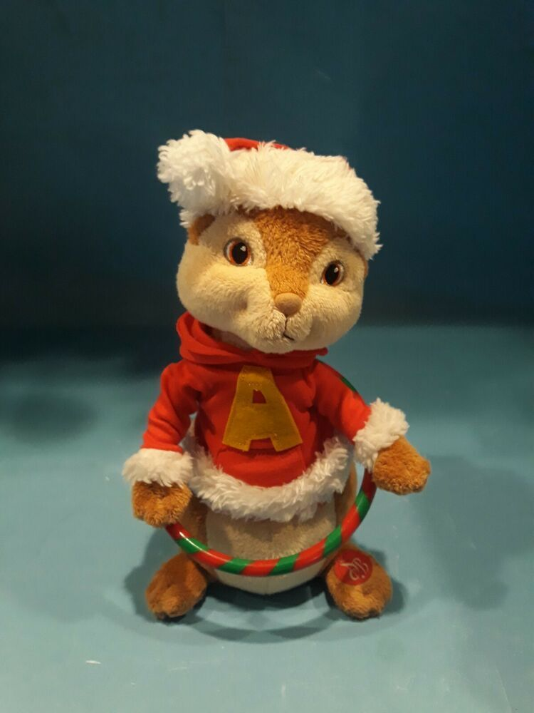 Alvin The Chipmunks Hula Hoop Animated Plush 10 Sings Xmas Don T Be Late Song Alvinandthechipm Animated Plush Alvin And The Chipmunks Plush Stuffed Animals