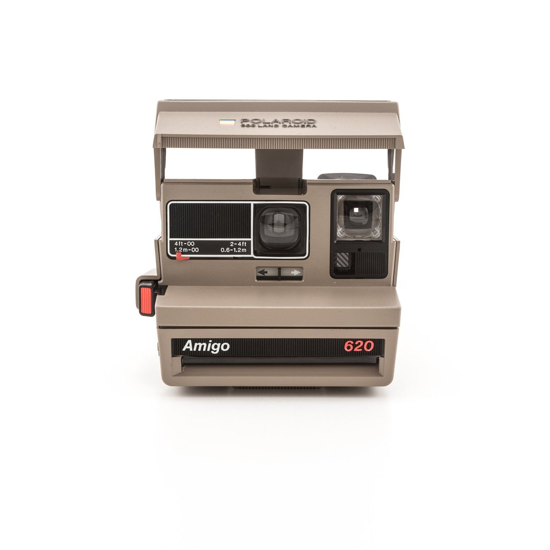 Vintage Polaroid Spirit Camera 600 Flash Instant Film Photography Impossible Project Testing Working Black Gray Polaroid Originals 1980s