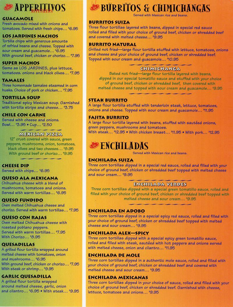 menu sample el mundialitos restaurant design ideas pinterest