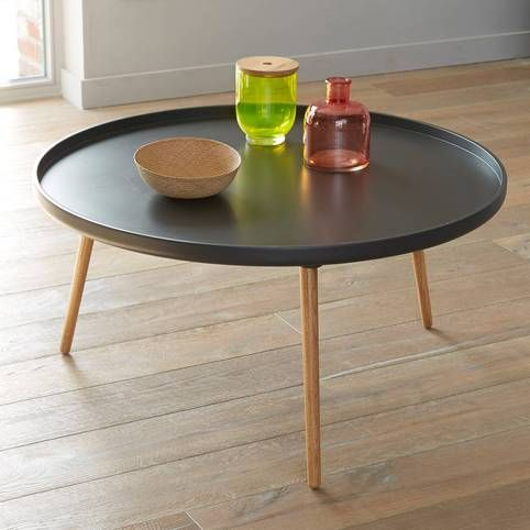 90 cm Suisses rond Table diamètre 3 basse plateau bicolore 0wOPX8nk