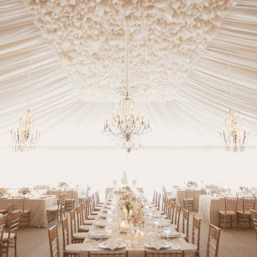 Tent draping on another level.