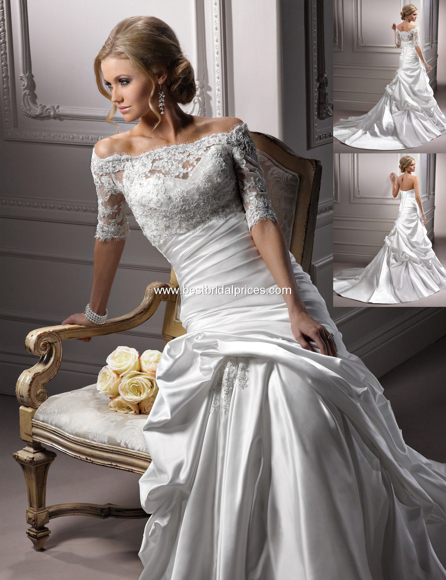 I\'m in love with this Maggie Sottero lace Symphony Jacket A3635 to ...