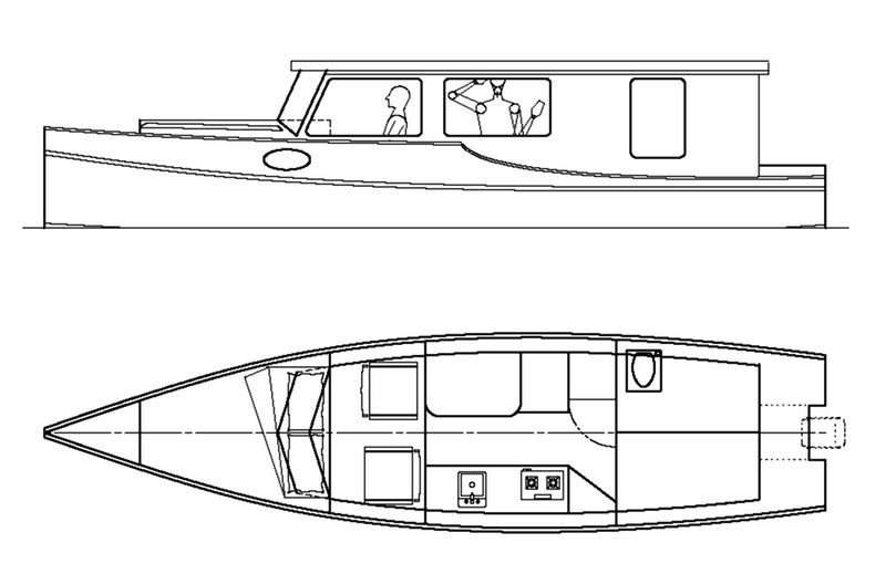 """Venezia"" Canal Boat. A compact Riverboat - Michael Storer Wooden Boat Plans 