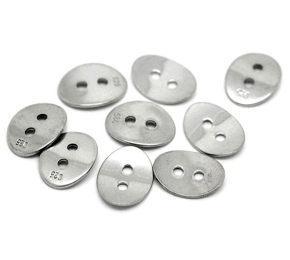 5 Silver Tone Stainless Steel 925 Stamped by SuppliesSundries, $5.00
