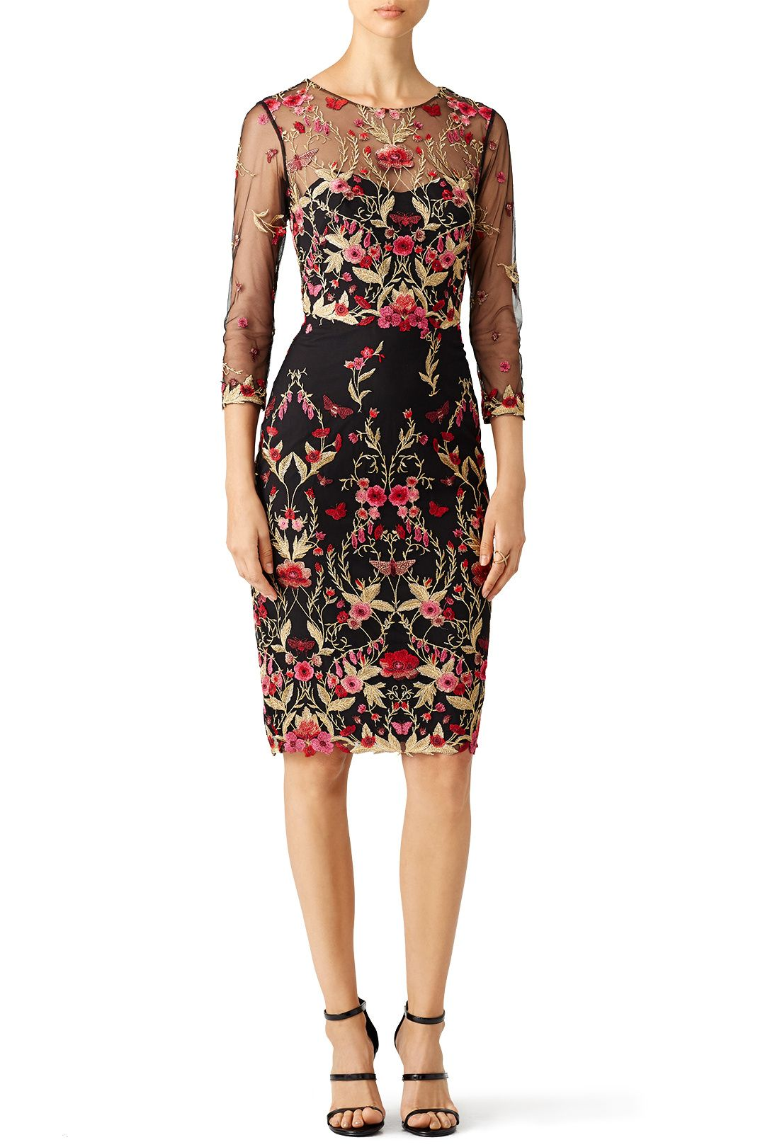 Rent Woven Hem Cocktail Dress by Marchesa Notte for $125 only at ...