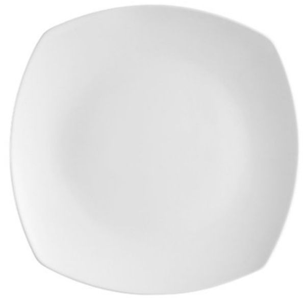 Coupe Pattern 10 inch White Coupe Square Plate/Case of 12