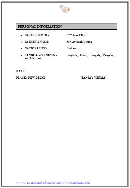 Cv Format For Sales And Marketing 4 Sales And Marketing Resume Templates Cv Format