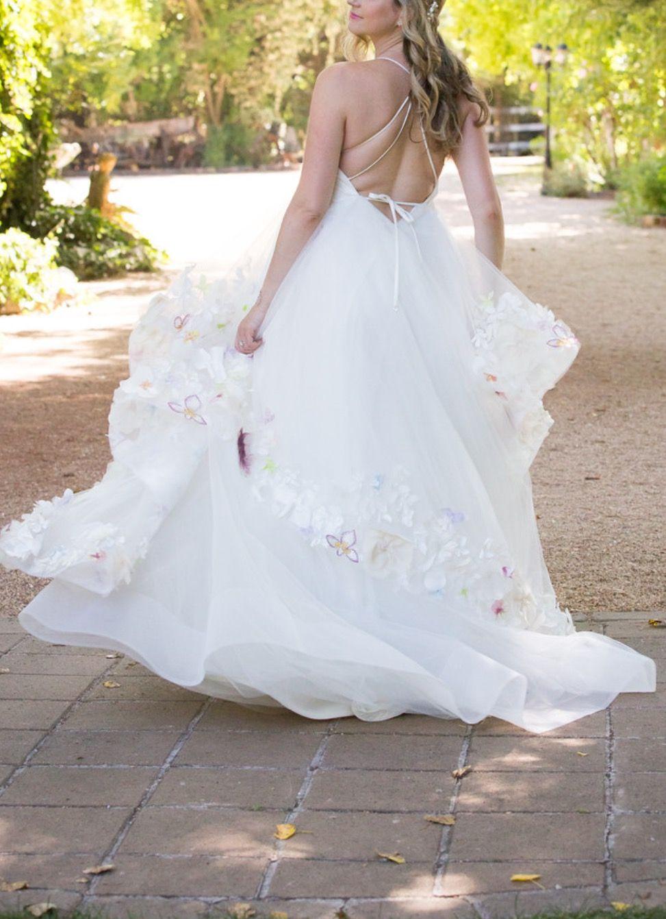 Hayley Paige Empire Waist 6601 Wedding Dress Used, Size