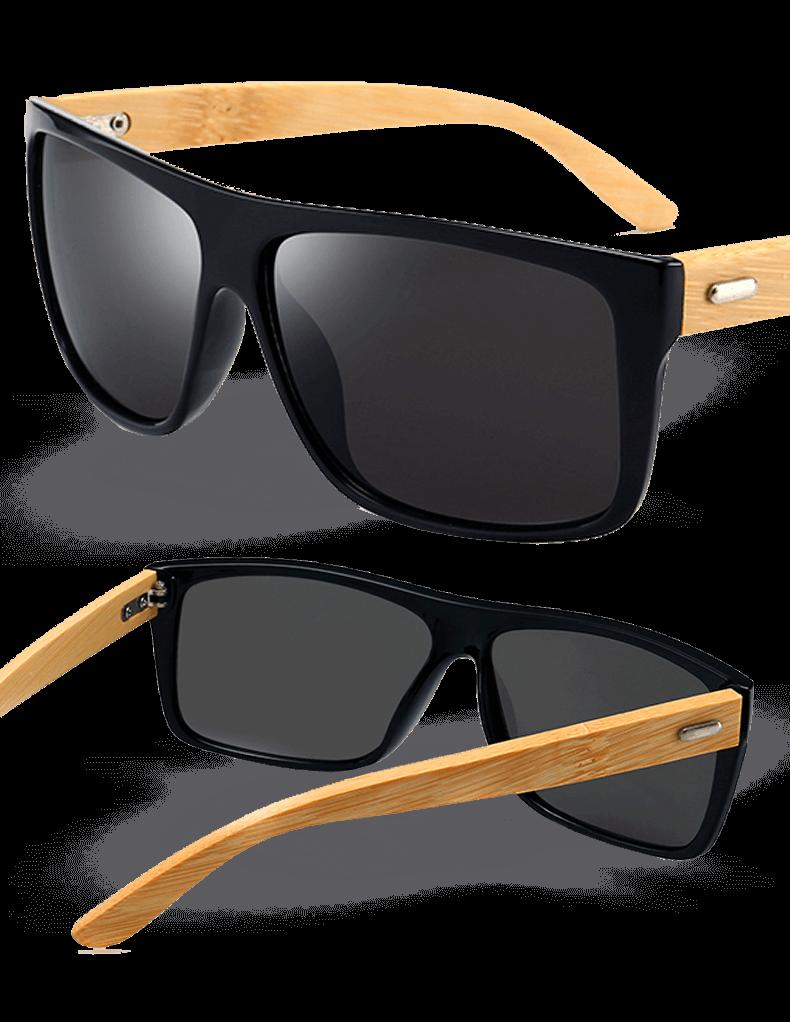 28be2257696e8 Kit com 2 Óculos de Sol Wood Icewolf 8204 - Preto Mercury e Marrom - Compre