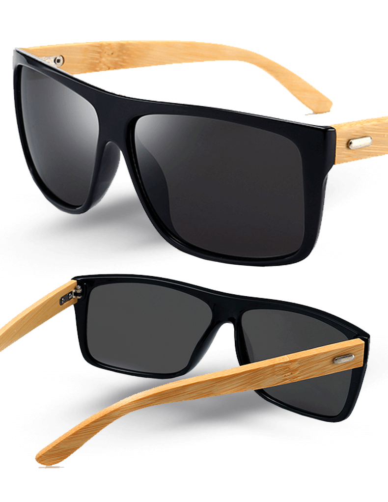 Kit com 2 Óculos de Sol Wood Icewolf 8204 - Preto Mercury e Marrom - Compre 711d09ad86