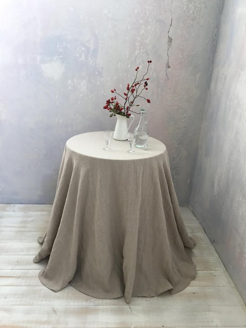 Extra Large Round Table Cloth.Linen Tablecloth Round Linen Tablecloth Extra Large Round Etsy