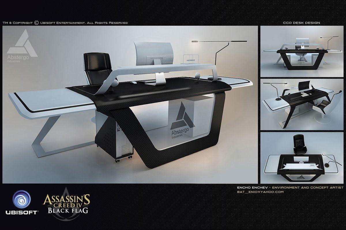 ArtStation - Modern desk design, Encho Enchev   Office   Pinterest ...