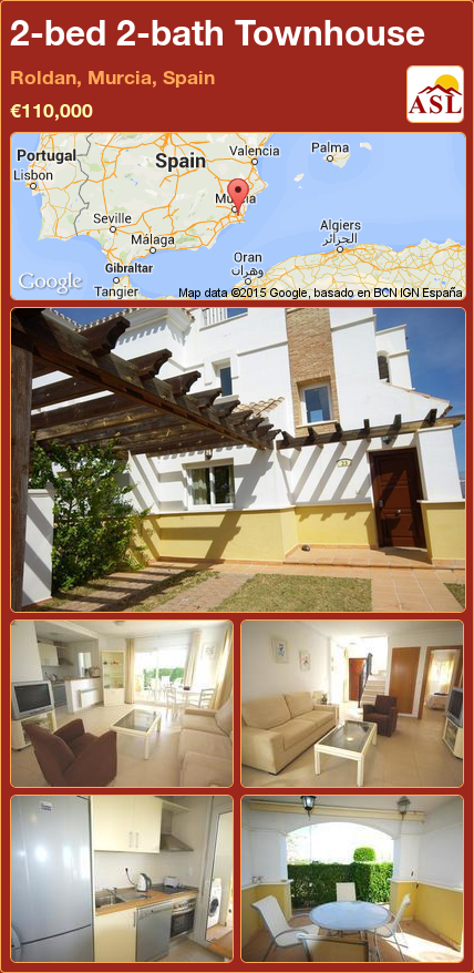 Townhouse For Sale In Roldan Murcia Spain With 2 Bedrooms 2 Bathrooms A Spanish Life Townhouse Murcia Double Glazing