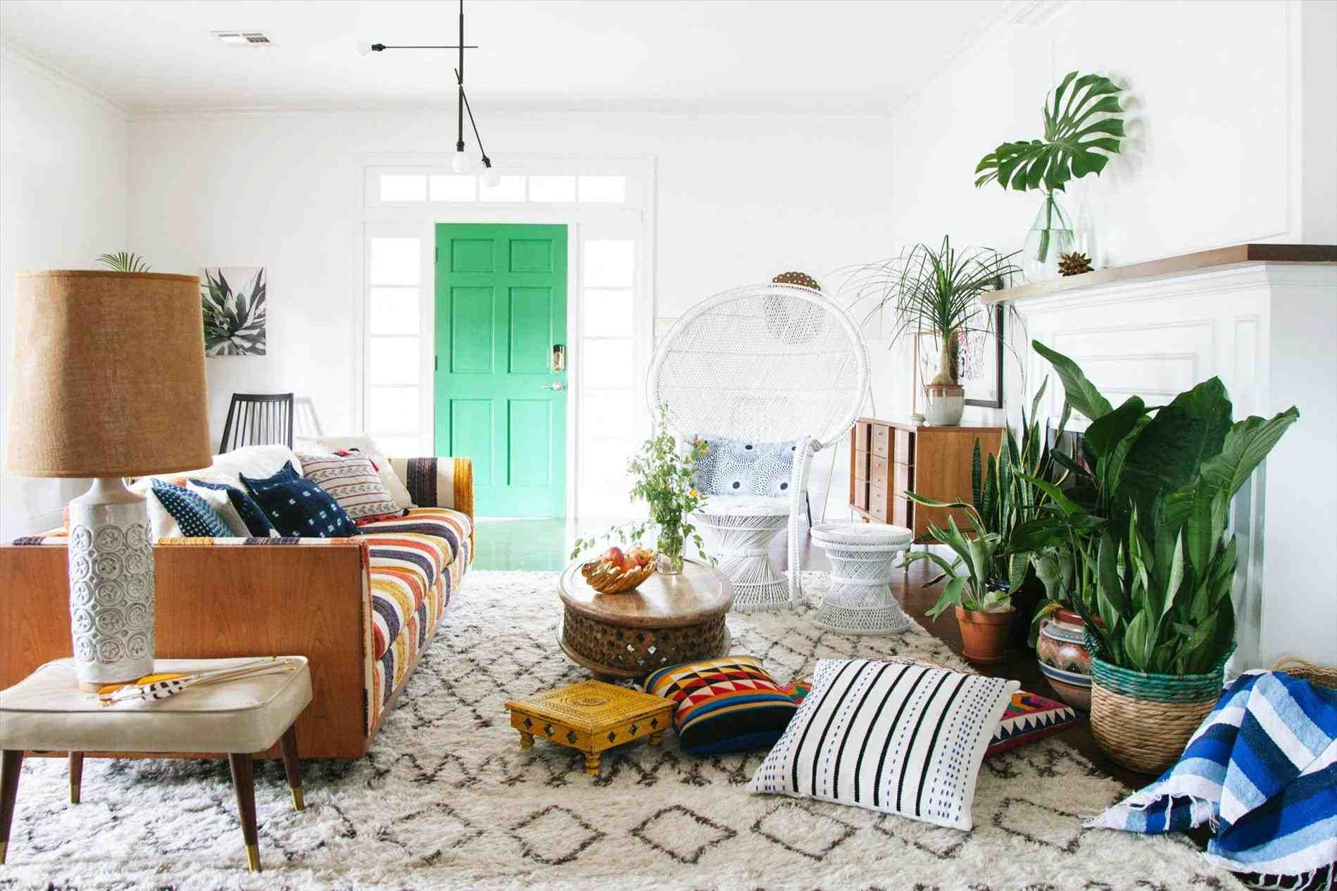 creating modern bohemian living room a stylish chic means little ...