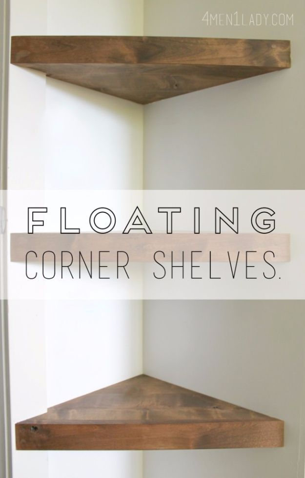 37 brilliantly creative diy shelving ideas pinterest muebles de diy shelves and do it yourself shelving ideas floating corner shelves easy step by solutioingenieria Choice Image