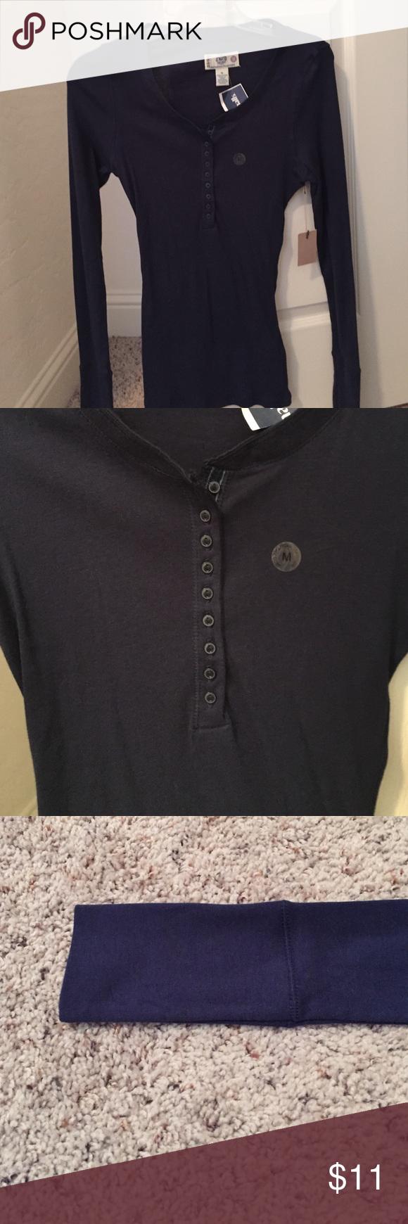 Navy Long Sleeve Shirt NWT Navy Blue Long Sleeve Top. JNCO Tops