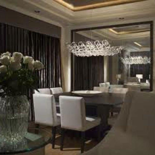 Decorpad, love floor to ceiling mirrors | Elegant dining ...