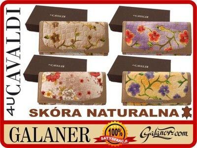 2090 Portfel Damski Cavaldi W Kwiaty Skora Pudelko 5080390996 Oficjalne Archiwum Allegro Coffee Bag