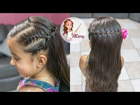 Peinado De Cascada Con Doble Trenza Facil Y Rapido Para La Escuela Waterfall Braid Youtub Lil Girl Hairstyles Braids For Long Hair Little Girl Hairstyles