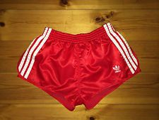 be1591a781 Adidas Retro Vintage Shorts Red White 36