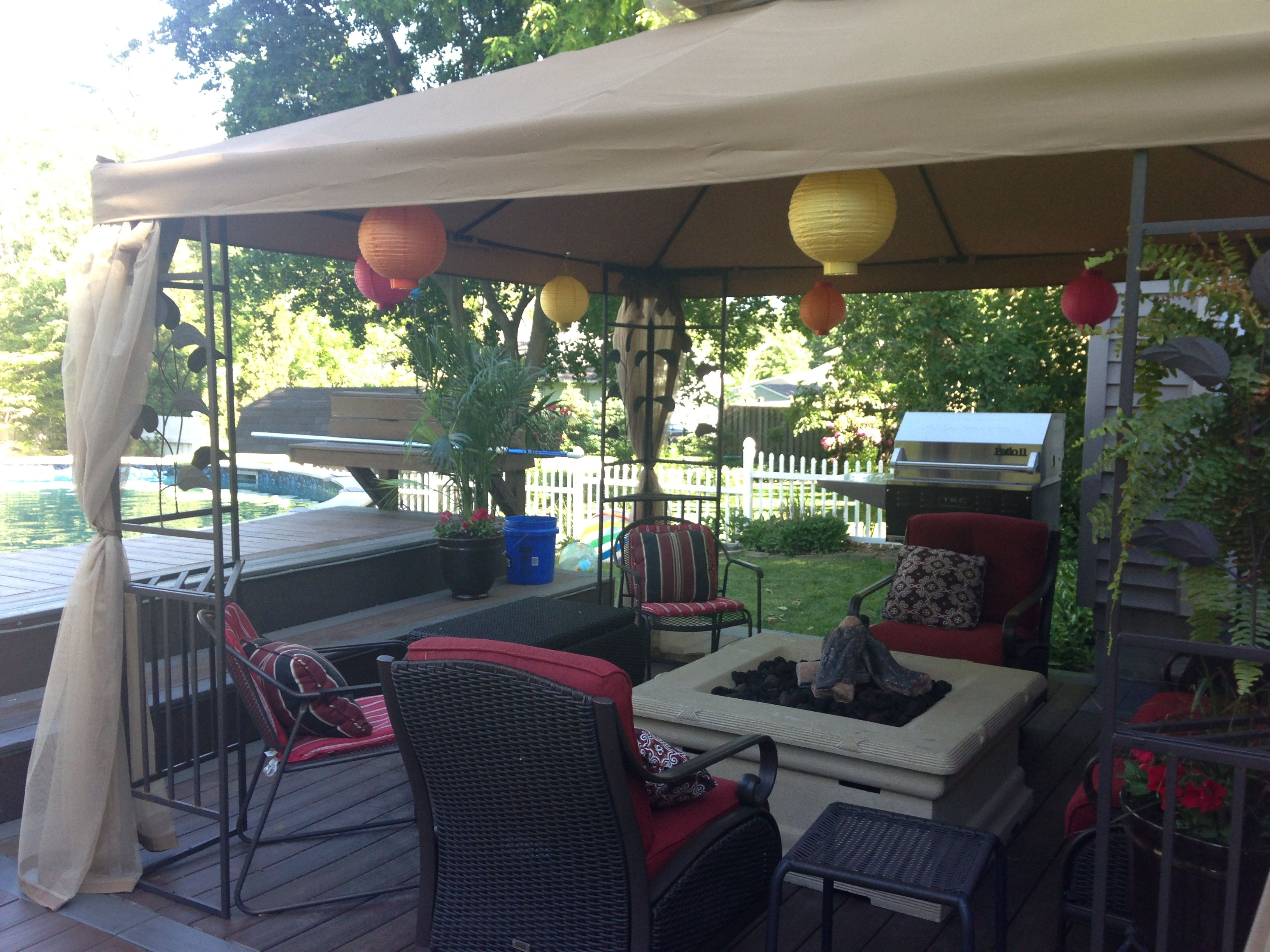 Gazebo Over Natural Gas Fire Pit Gas Firepit Natural Gas Fire