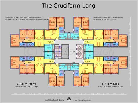 The Cruciform Floor Plan Great Pin For Oahu Architectural Design Visit Http Ownerbuiltdesign Com Apartment Plans Apartment Architecture Architecture Plan