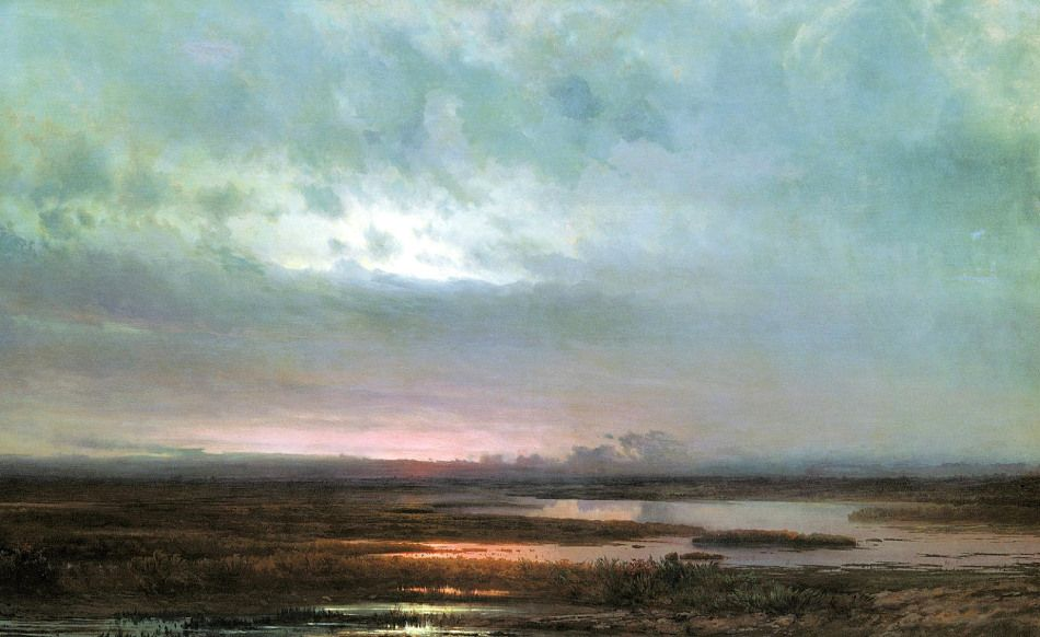 Alexei Savrasov - Sundown over a Marsh