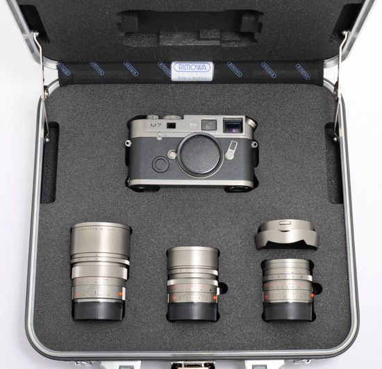 This Leica M7 Titanium three lens kit is listed for $223,130 on eBay