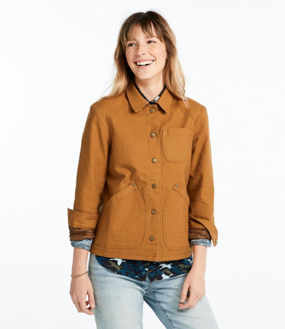 Signature Canvas Jacket Flannel Lined Women Outerwear Jacket Jacket Outfit Women Outerwear Women [ 1072 x 929 Pixel ]