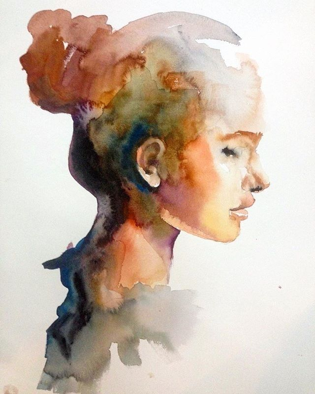 Pin By Hannah On Art Watercolor Portraits Watercolor Portrait