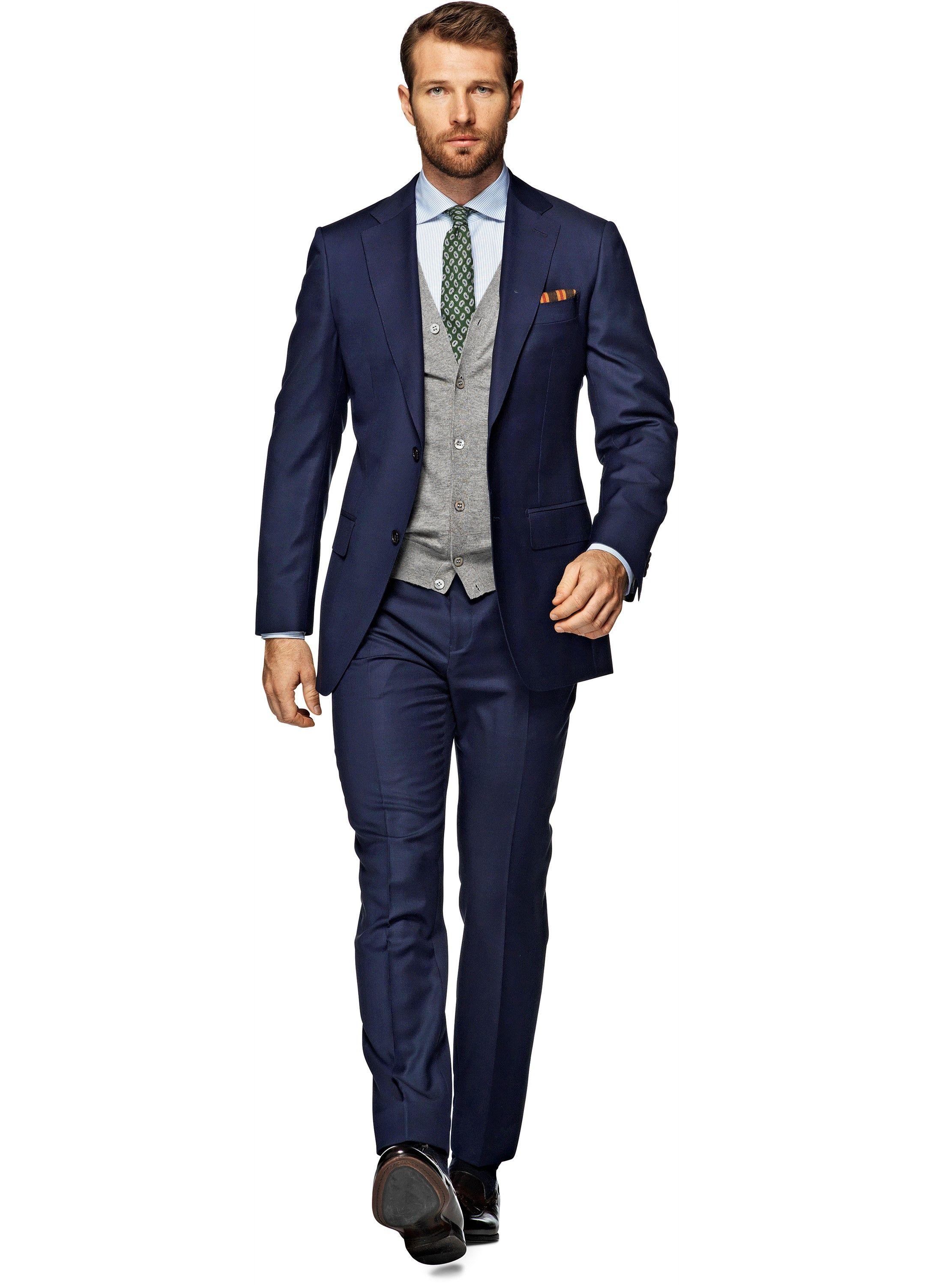 ME Suit Blue Plain Napoli P3458i   Suitsupply Online Store   Suit ...