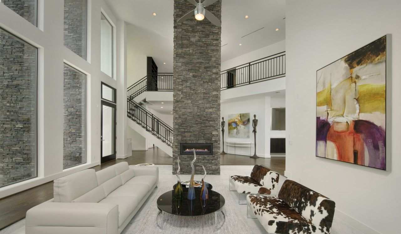 How To Install Stacked Stone Tile On Drywall White Walls Living Room Living Room White Black Walls