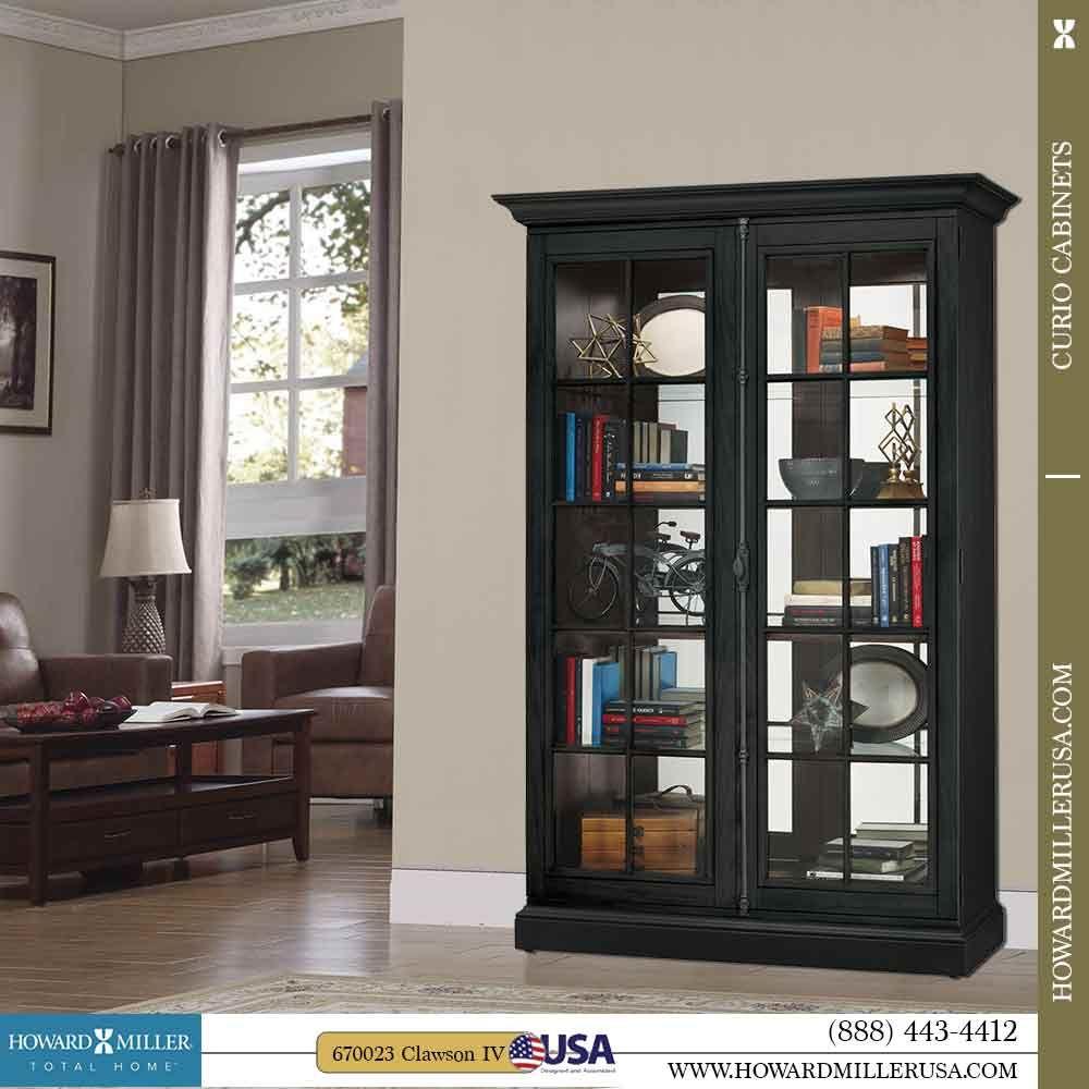 670023 Howard Miller Curio Cabinet Jpg Curio Cabinet Cabinet Window Frame