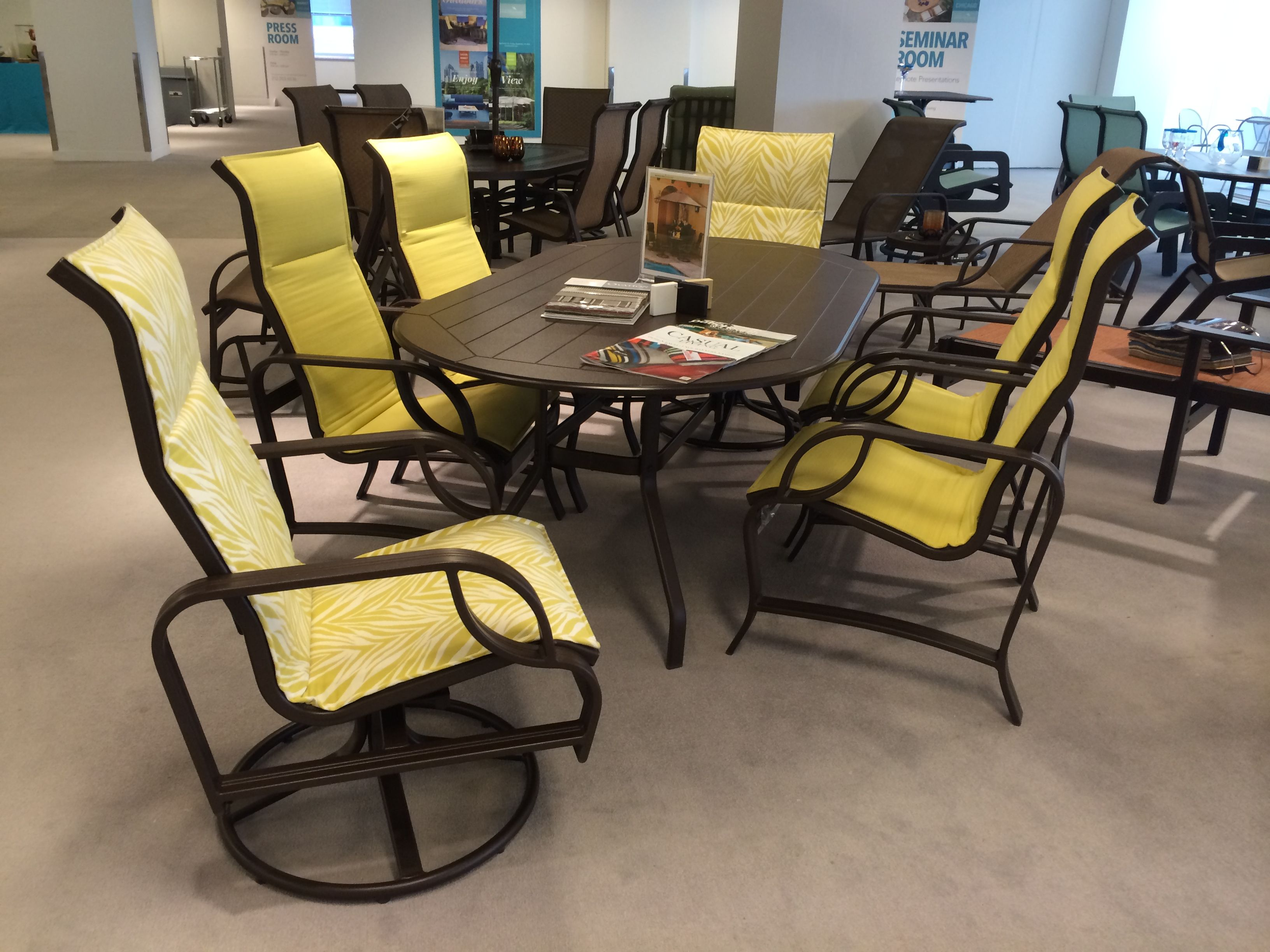 Eclipse padded sling outdoor furniture by Windward Design Group