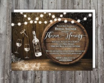 Wein Verkostung Bridal Shower Einladung Tafel von OddLotPaperie