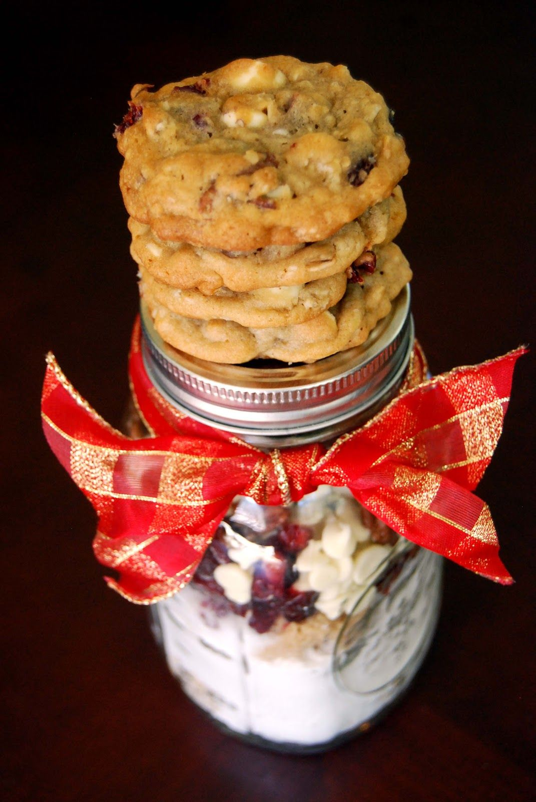 Cranberry hootycreeks gift in a jar sweet bread recipe box and