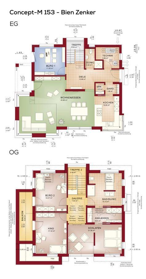 grundriss einfamilienhaus neubau modern mit galerie satteldach 5 zimmer 160 qm wfl ohne. Black Bedroom Furniture Sets. Home Design Ideas