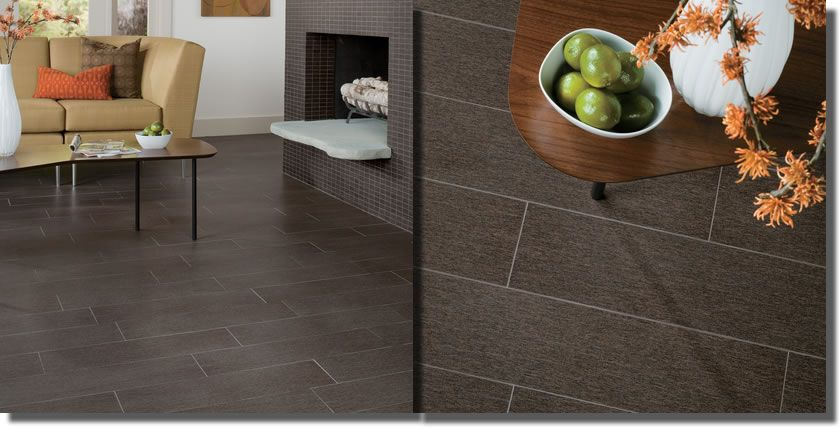 Dark Gray Rectangular Tile For Master Bath And Cream Other Bathrooms Laundry