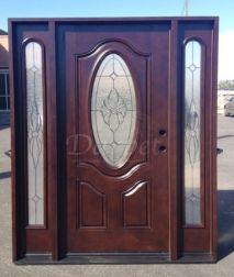 Dark Walnut Exterior Fiberglass Door | Darpet Interior Doors for Chicago Builders
