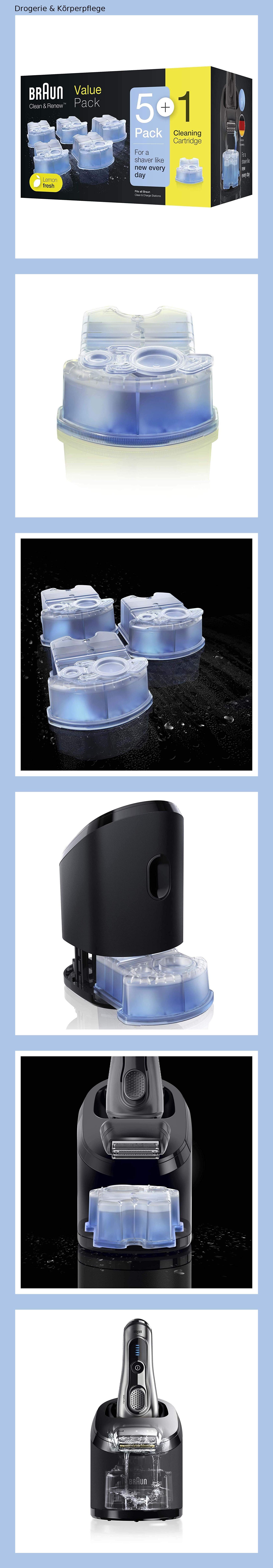 Braun Clean Und Renew Ccr Kartuschen Nachfullpackung 5 1 Pack