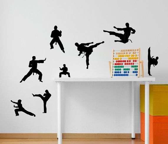 Karate Martial Arts Decal Vinyl Wall Decal Karate Silhouette - How to make vinyl wall decals with silhouette