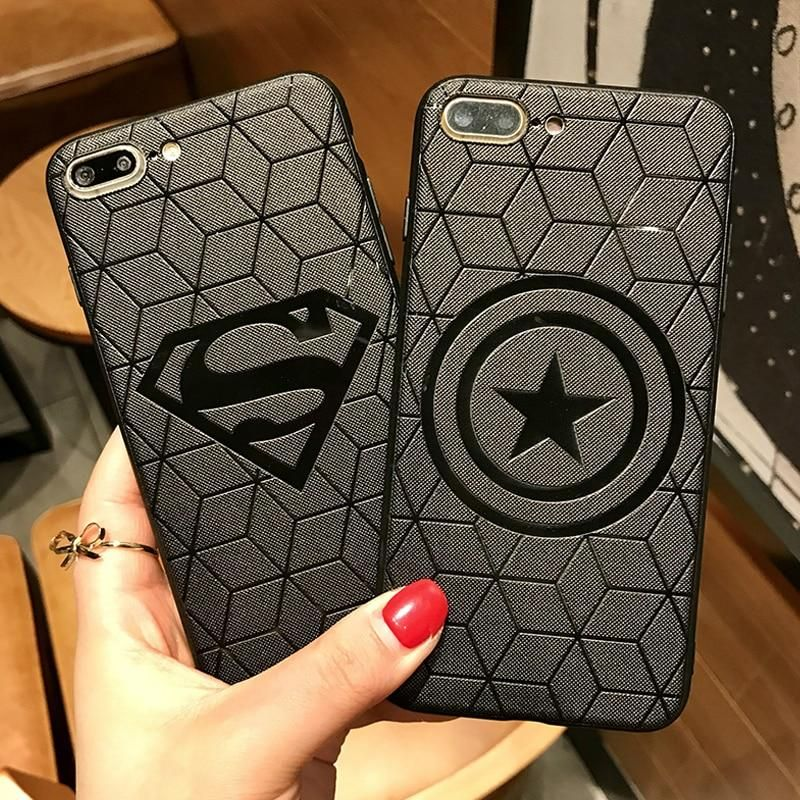 Marvel Avengers Case for iPhone 6s 7 8 Plus X 10 XS Max XR ...