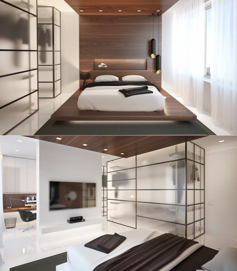 Chambre avec dressing 20 int rieurs l gants et modernes d co pinterest bedroom luxury - Luminaire suspendu chambre a coucher ...