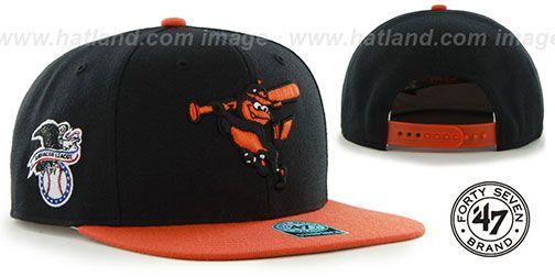 fe2f4401588 Orioles COOP  SURE-SHOT SNAPBACK  Black-Orange Hat by Twins 47 Brand on  hatland.com