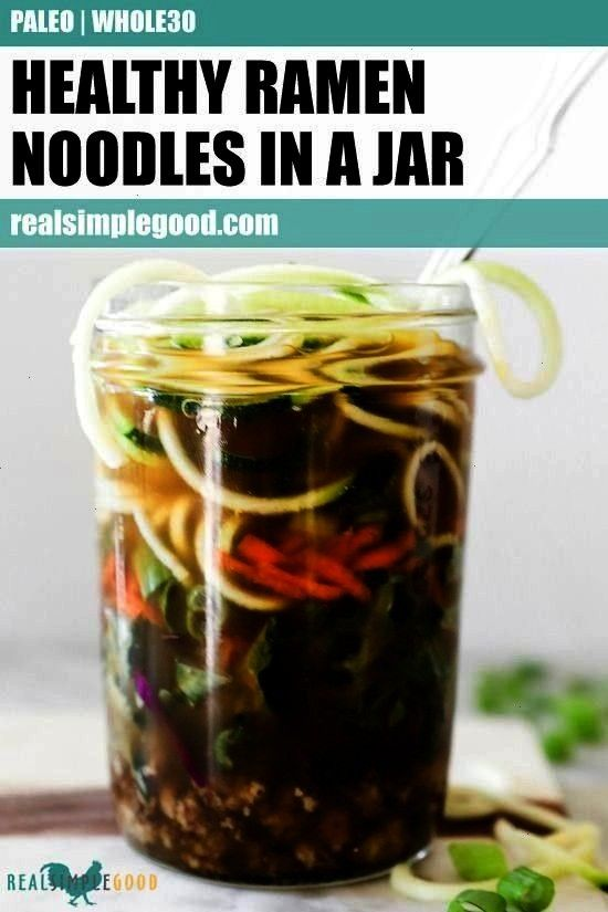 tasted so good! This Paleo + Whole30 ramen noodles in a jar recipe is the perfect way to prep healt