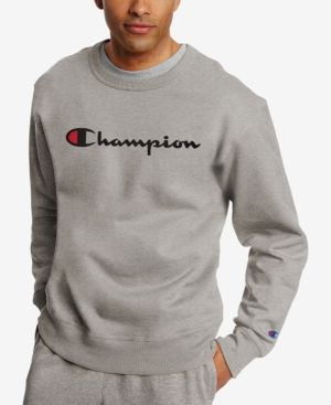 9f427511273e Champion Men s Powerblend Fleece Logo Sweatshirt - Blue XL ...